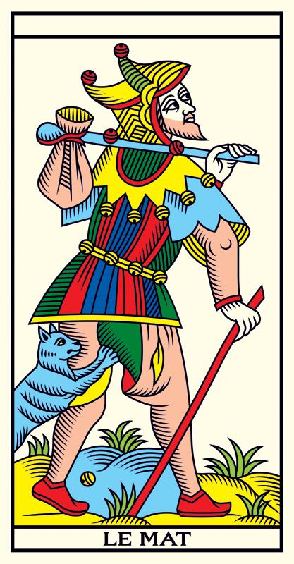 carte du tarot le mat